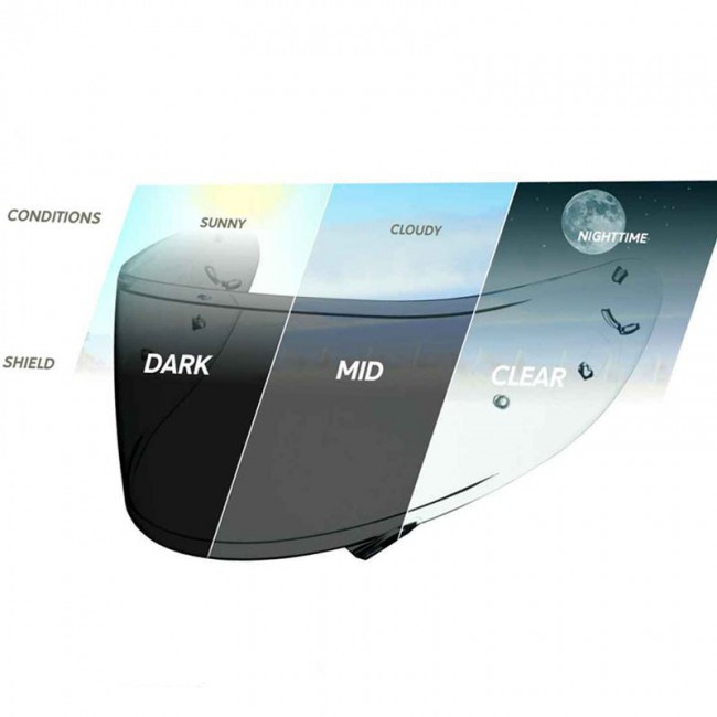 Visière Shoei CWR1PN NXR Transition Photochromic